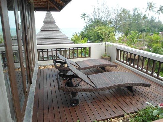 Royal Muang Samui Villas : Sonnenterrasse