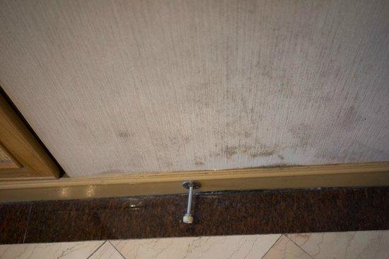 Riverside Majestic Hotel: dirty wall