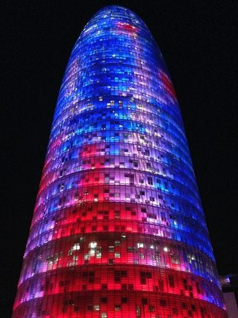 Torre Agbar: So cool from far away and up close!