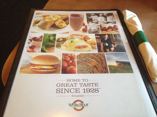 whitespot : Complete breakfast menu!