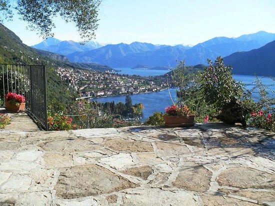 B&B L'Isola Comacina : Panorama dalla terrazza