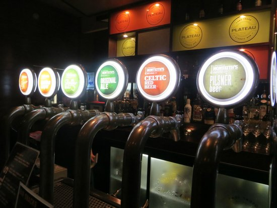 Plateau: Some of the beer on tap