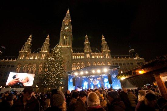 Rathausplatz: Nytårsaften