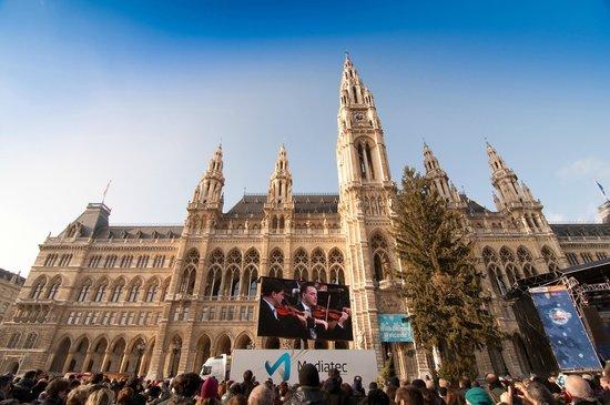 Rathausplatz: nytårsdag