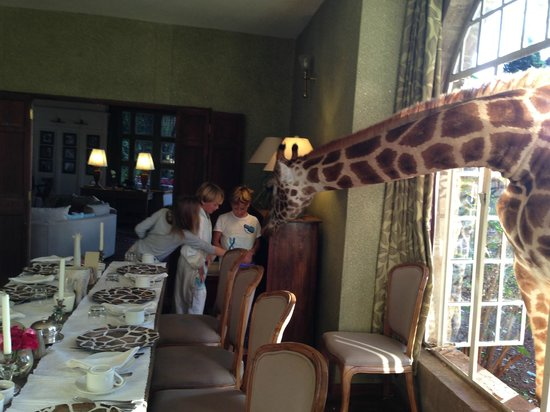 Giraffe Manor : Breakfast with a new friend