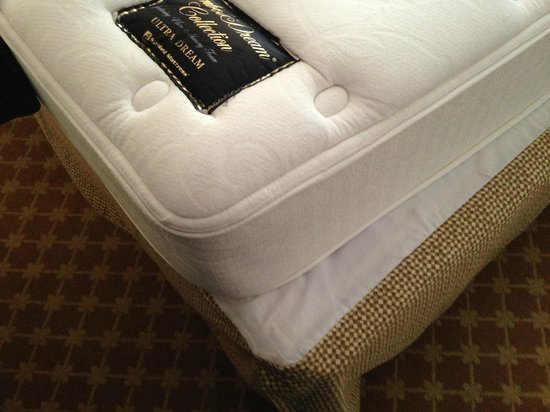 "The Flanders Hotel : 8 "" foam ""mattress"" on wooden platform"