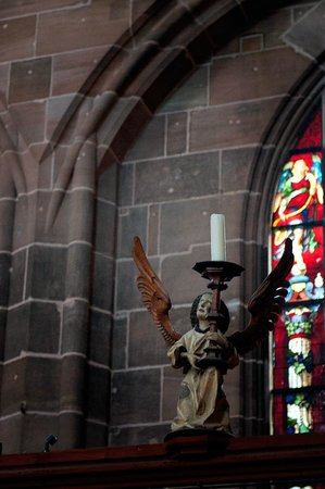 St. Lorenz Kirche: Candle stick