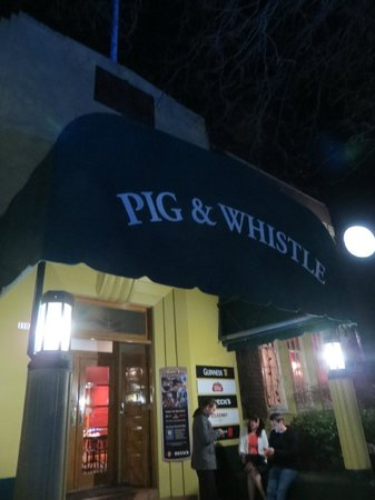Pig and Whistle Historic Pub: The entrance to the restaurant