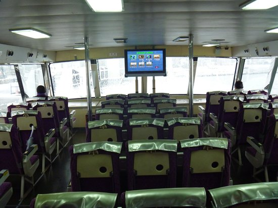 Biwako Kisen Chikubu Island Tour Boat : 高速船内