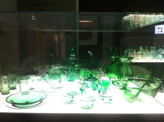 MUVE, Museo del Vetro di Empoli, una vetrina