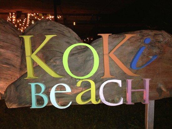 KOKi Beach Restaurant & Bar: Sign