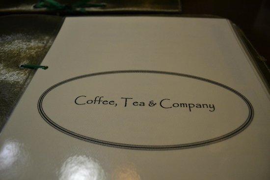 coffee tea n company: The menu