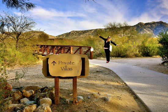 Miraval Arizona Resort & Spa: The bridge to the private villas.