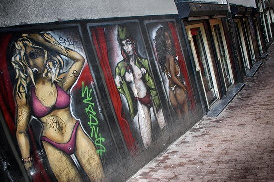 Rotlichtviertel Walletjes: Sexy Grafitti