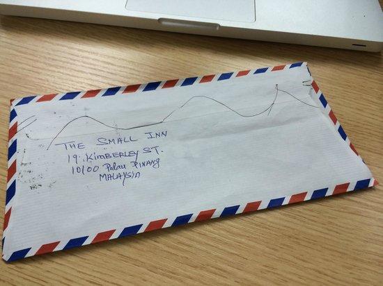 The Small Inn : mail from small inn