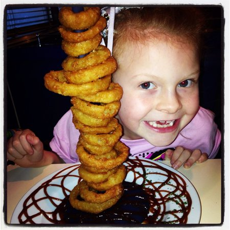 50's American Diner: Onion rings were amazing!!