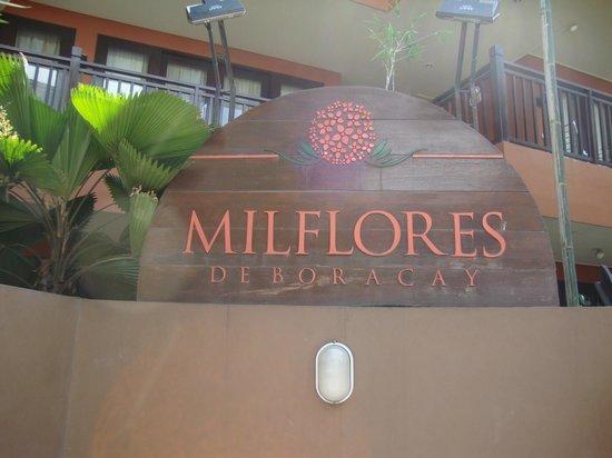 Milflores de Boracay: Milflores entrance