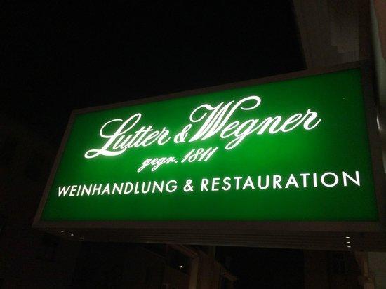 Lutter & Wegner: Werbetafel