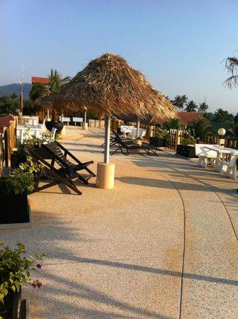 Jaidee Resort: Terrasse mit super Aussicht