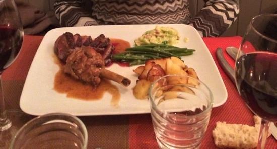 L'Ange 20 Restaurant : Tagliata d'anatra con verdure e patate, eccezionale!