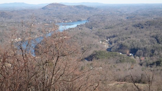 Chimney Rock State Park: view from parking area near gift shop