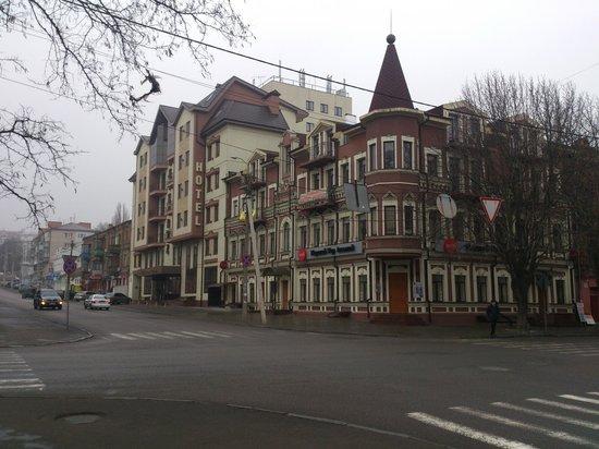 Reikartz Dnеpropetrovsk Hotel: Вид с улицы