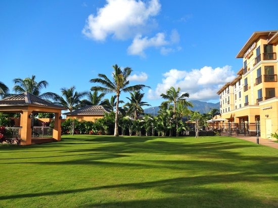 Courtyard Maui Kahului Airport: large grass area in back