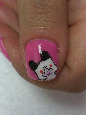 Liberty Style : Nail Art decorato a mano con micropittura