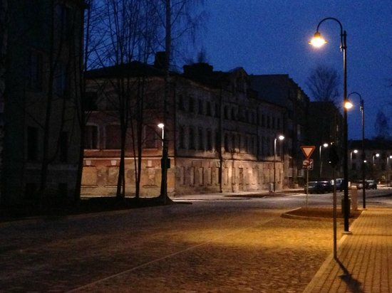 Daugavpils Fortress: Streets at night