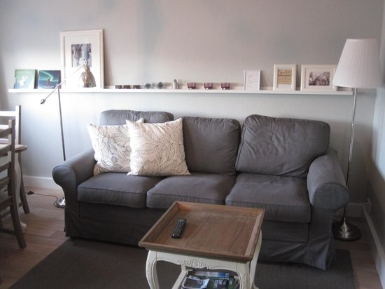 Einholt Apartments : Living area with sofa bed