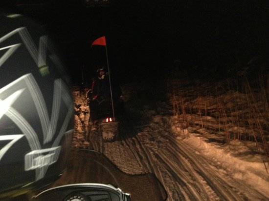Killington Snowmobile Tours : Snowmobiling at night!