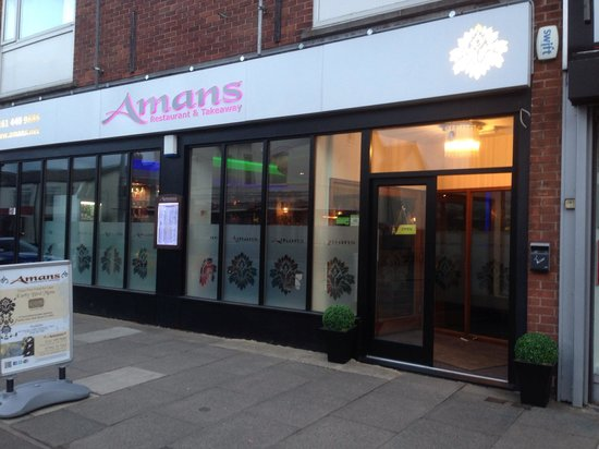 Bar part of dining area picture of amans stockport for Amans indian cuisine
