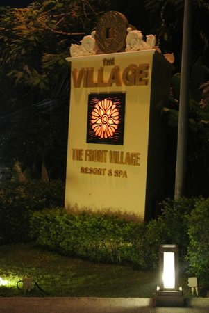 The Front Village Hotel: sign