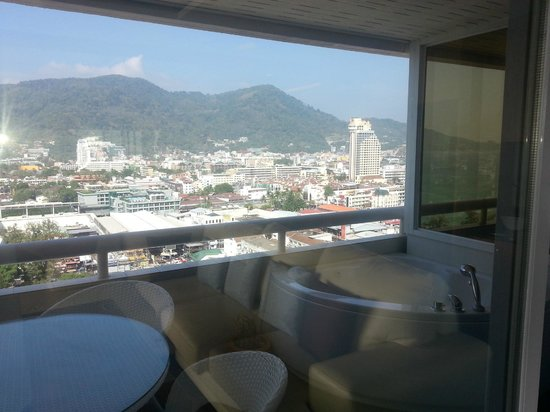 Patong Tower Holiday Rentals: view to the north