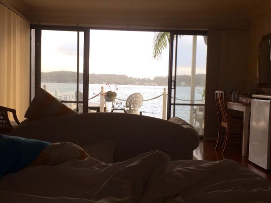 Fishing Point, Australia: View from bed!