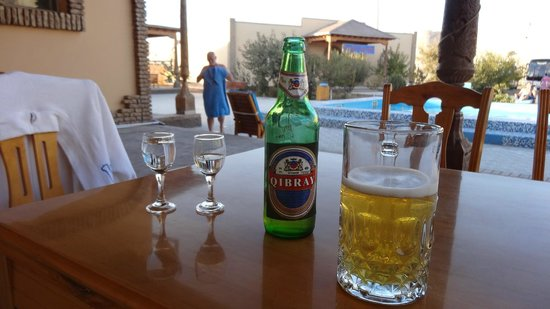 Hotel Asia Khiva : Warming up after chilly dip!