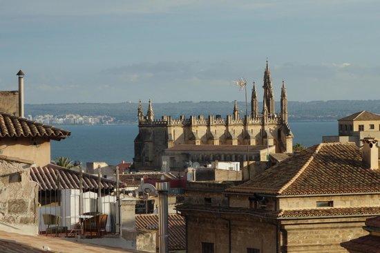 Hotel Cort : Blick zum Meer von der Terrasse