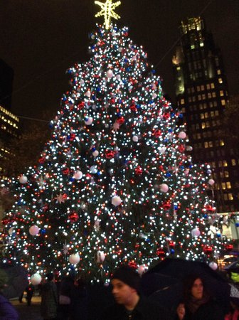 Christmas tree at Bryant Park  Picture of InterContinental New