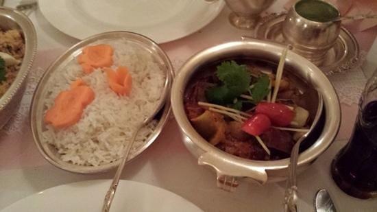 Indisches Restaurant: lamb jalfrezi