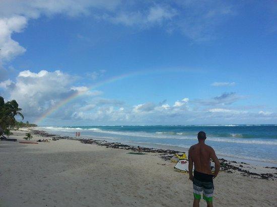Xbalamque Cabanas Tulum: Beach access across the street from Xbalamque