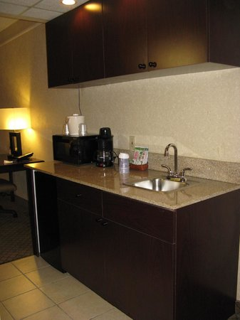 Holiday Inn Express Hotel & Suites Grand Rapids Airport : Holiday Inn Express Rapids Airport -- Wet Bar