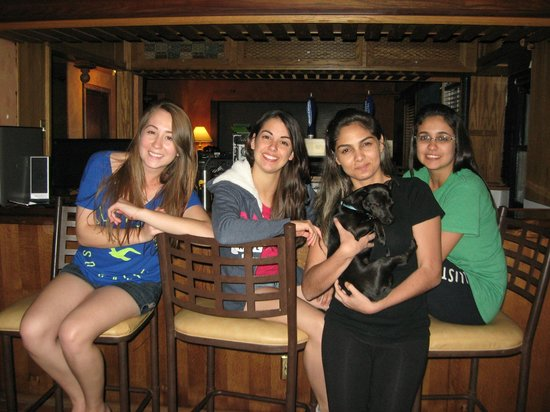 RK Hostel: Blackie and some of her favorite guests