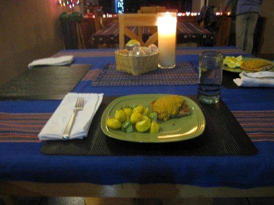 Lake Villa Guatemala: Delicious Dinner