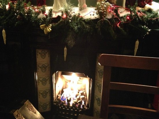 Donnellys of Barna: The fire decorated for Christmas (from my December visit)
