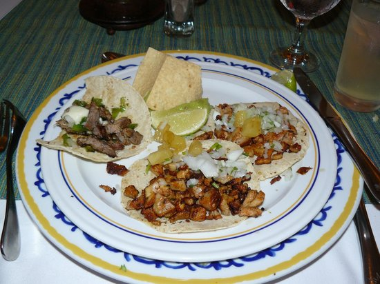 Iberostar Cozumel: One steak taco and two tacos as pastor at the El Sarape Mexican restaurant - they were excellent