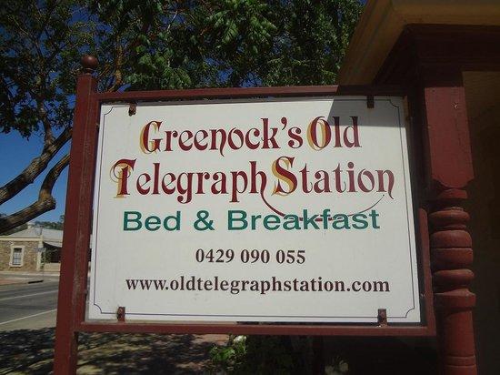 Greenock's Old Telegraph Station: 看板