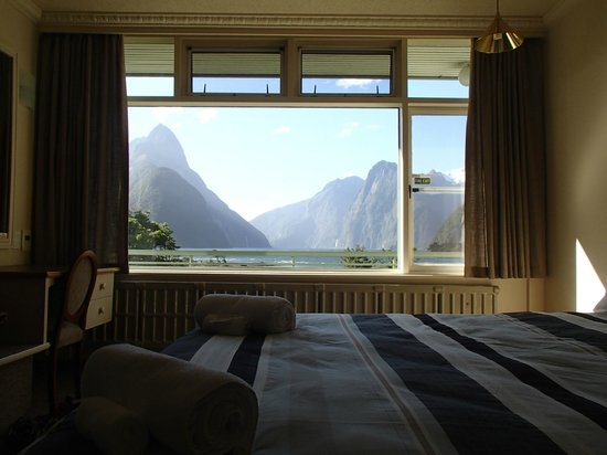 Mitre Peak Lodge: View from the bedroom
