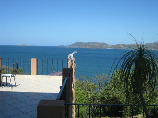El Sabanero Beach Hotel: Magnificent ocean view from the terrace at El Sabanero Hotel