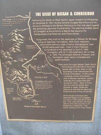 Bataan-Corregidor Memorial: Plaque
