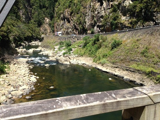 Hauraki Rail Trail - Day Rides : View from one of the bridges on the ride from Waikino to Paeroa